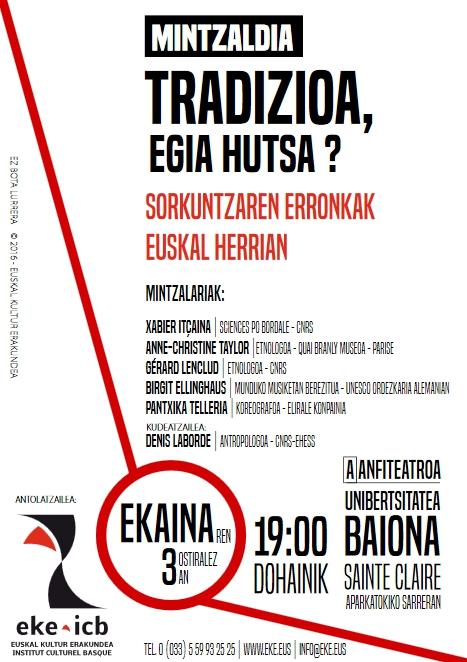 Mintzaldia: Tradizioa, egia hutsa? Sorkuntzaren erronkak Euskal Herrian