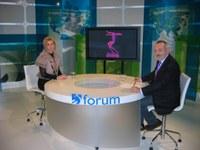 Mikel Aristegi eta Isabel Verdini ETB2ko Forum-en