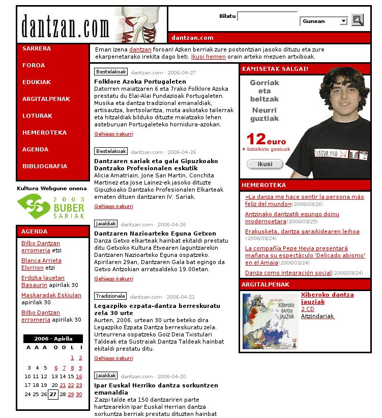 Aurpegi berriarekin dator dantzan.com