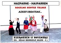 Azken urratsak Hegalka dantza taldearen eskutik Hazparnen