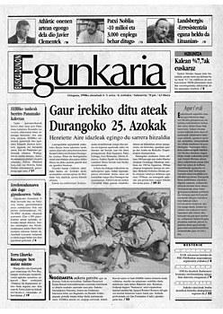 Hamar urte Egunkaria itxi zutela