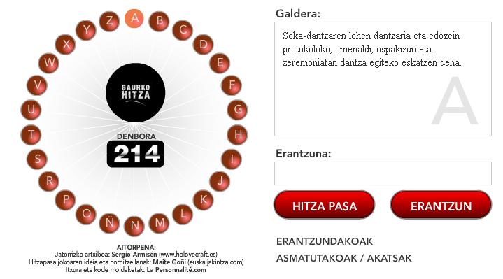 HitzaPasa dantza, euskal dantzari buruzko terminologia lantzeko