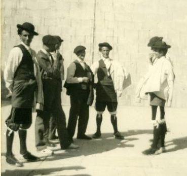 Erronkariko gizon taldea 1900