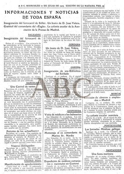 ABCko 1929ko uztailaren 7ko aleko albistea