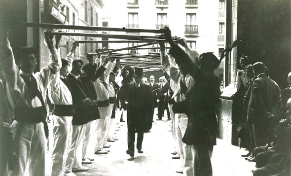 Bordoi-dantza, Tolosa 1918.