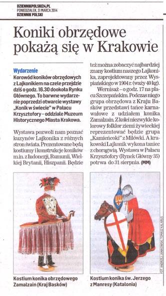 Dzieenik Poslki Zamaltzaina Krakovian 2014