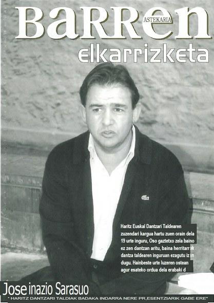 Jose Inazio Sarasuari elkarrizketa Barren astekarian 2000