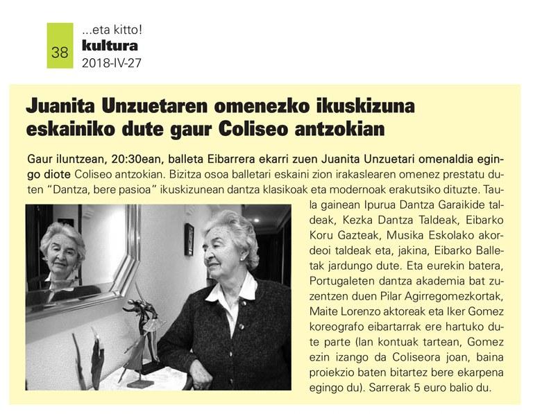Kezka etakitto aldizkarian 2018-04-27 38 Juanita Unzueta