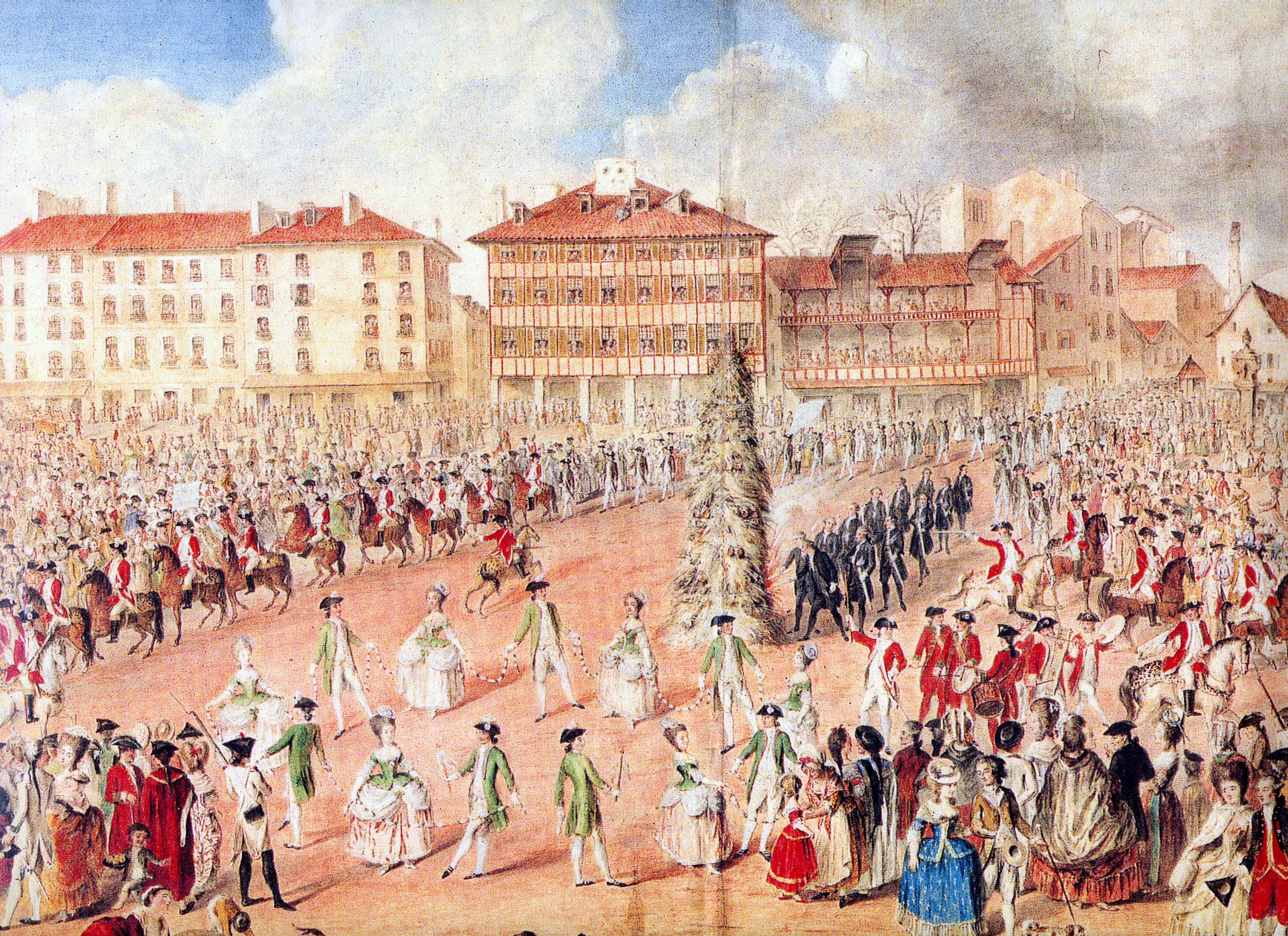La Pamperruque, Saint Spirit plaza, Baiona, 1781. Frois familiaren bilduma