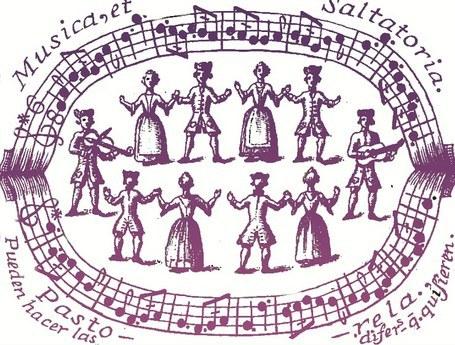 villanoa dantzatzen ageri diren antzinako marrazkia