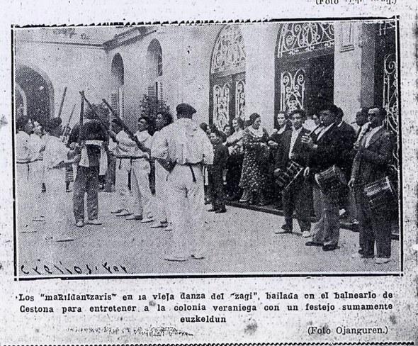 Zestoako zahagi-dantzariak Ahora aldizkarian