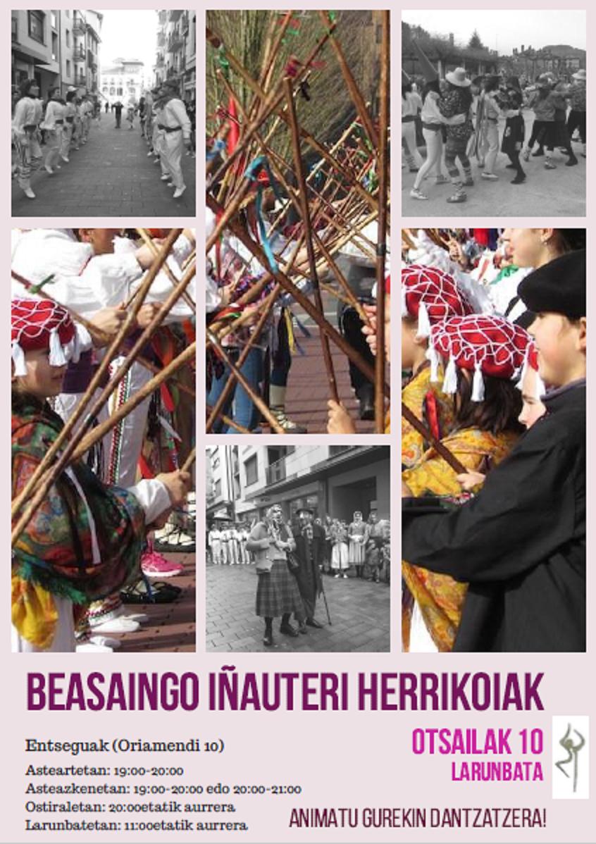 Beasaingo inauterietako dantza-desfile herrikoia