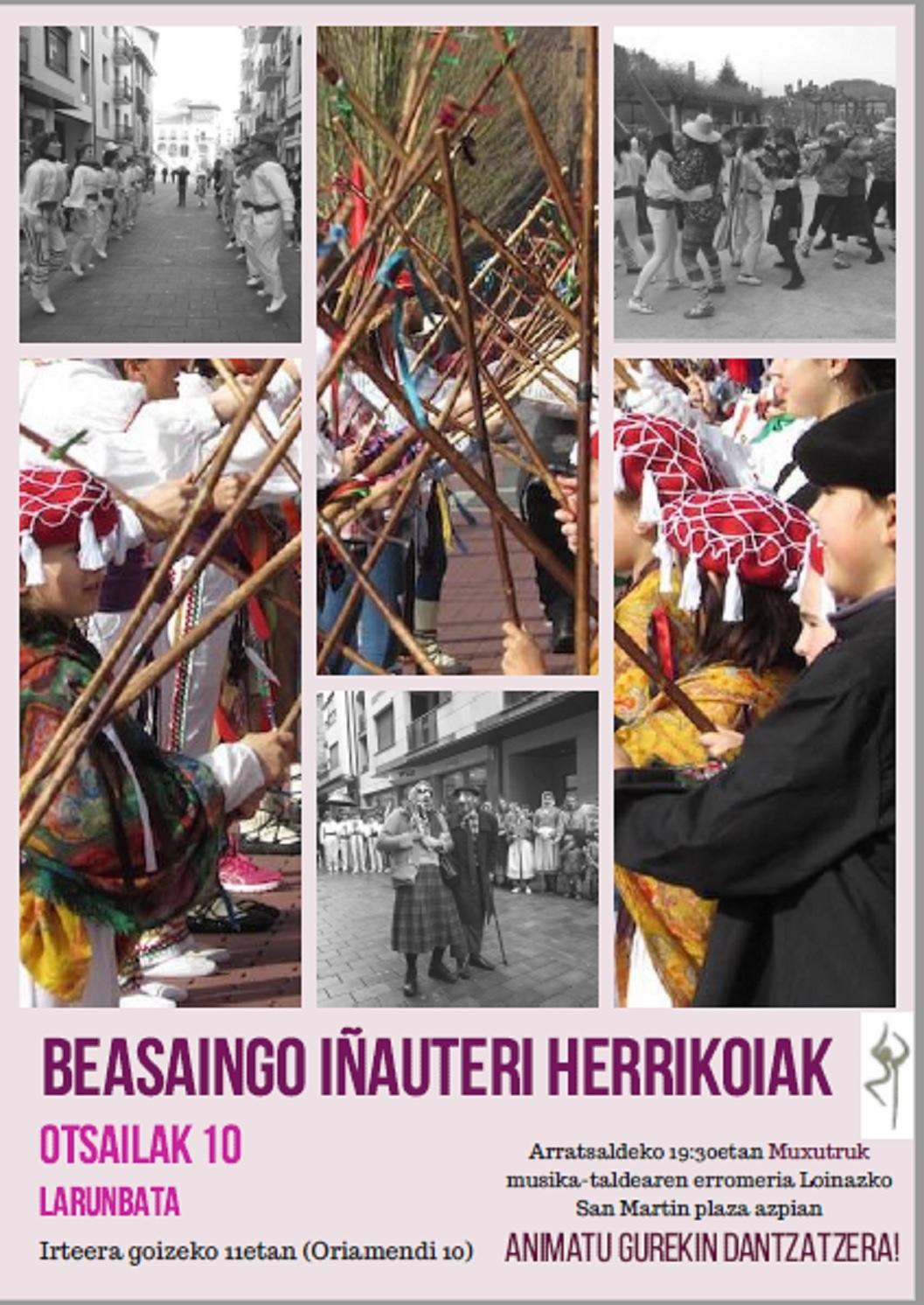 Larunbatean (otsailak 10), urteroko Beasaingo Inauterietako dantza-desfile herrikoia Ostadar Dantza Taldearen eskutik