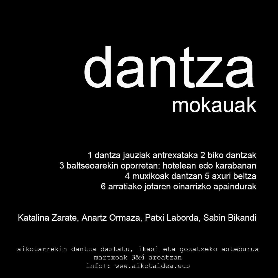 Aiko Taldea: Dantza mokauak (ikastaroa)