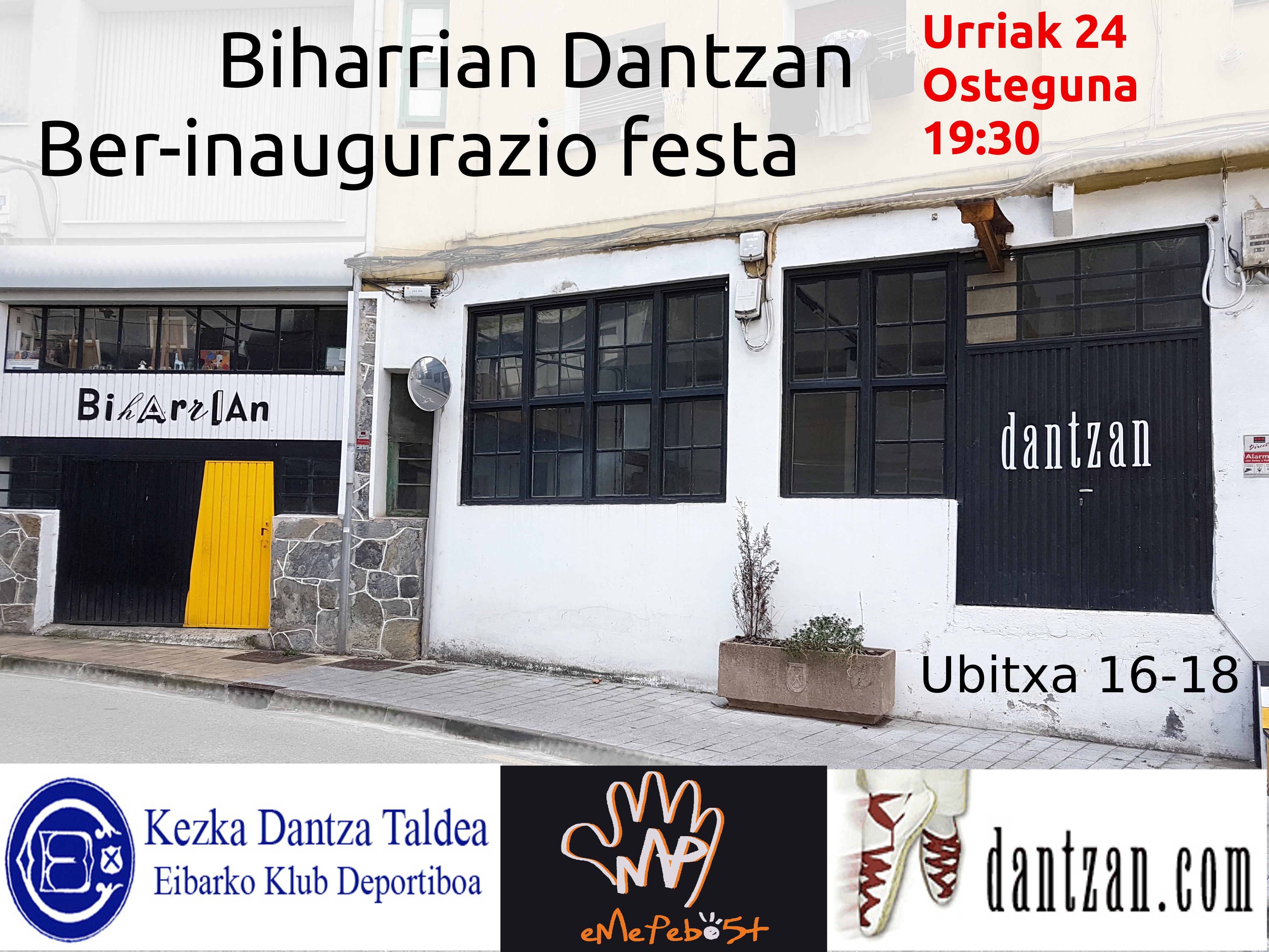 Biharrian Dantzan ber-inaugurazio festa