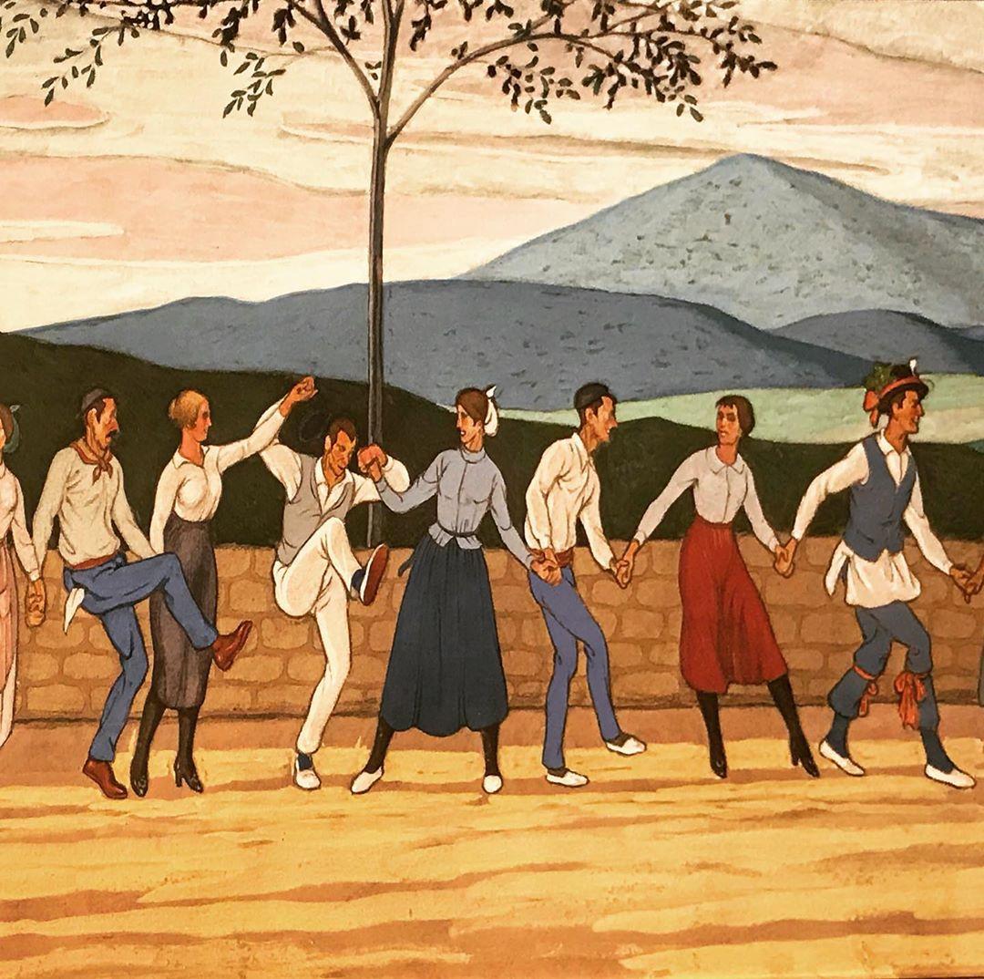 Berakatz Eguneko aurreskua, festak lanean eman zituzten emakumeak dantzara ateratzen zituztenekoa
