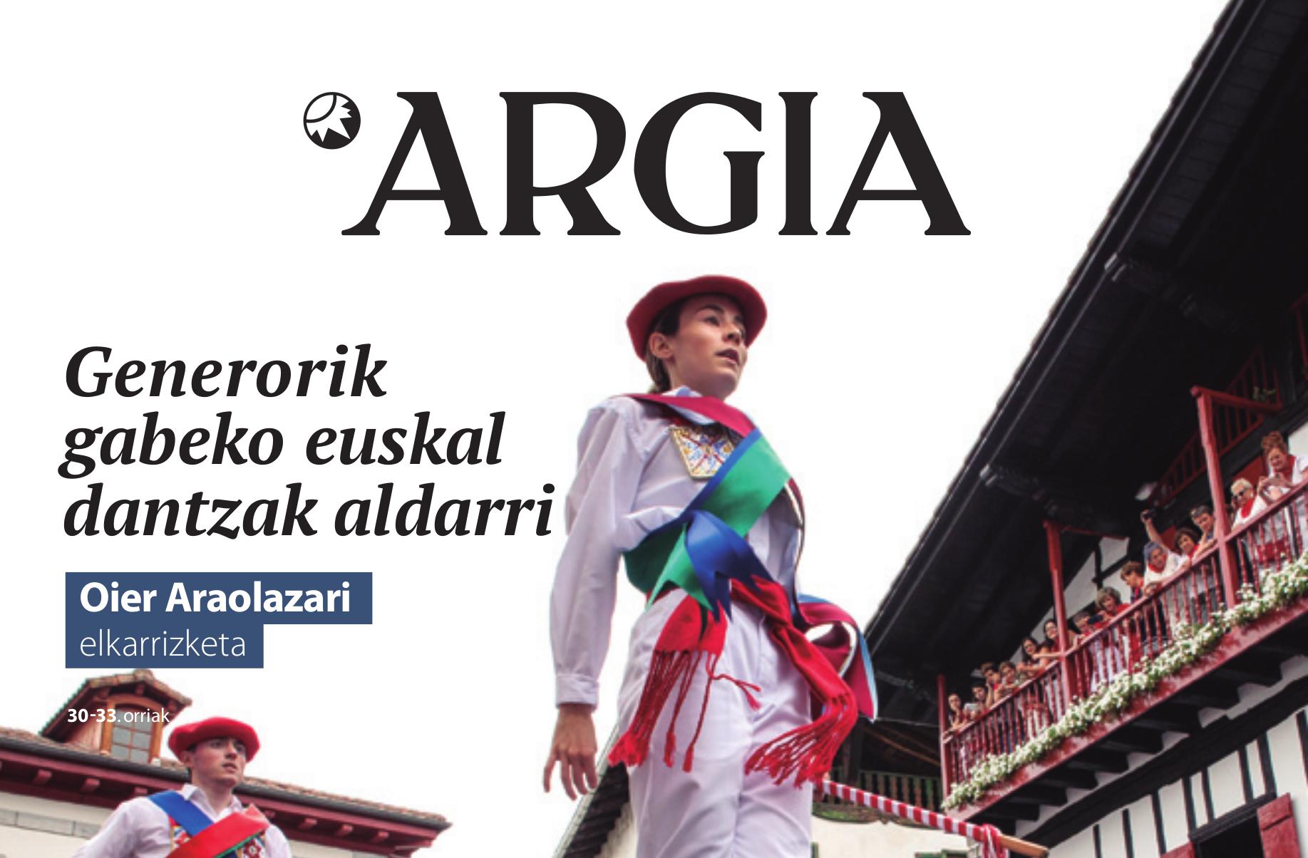 Euskal dantza eta genero-identitateaz elkarrizketa Argian